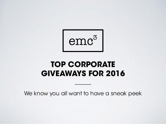 Top corporate giveaways