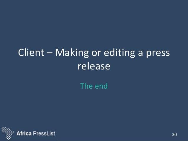 create a press release