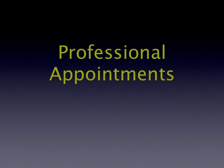 ProfessionalAppointments