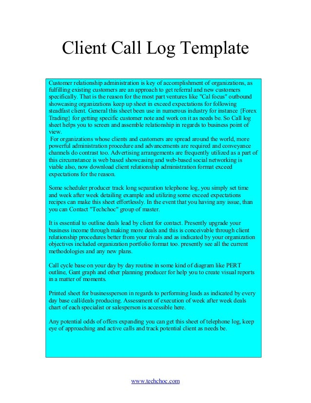 Client Call Log Template Customer Relationship Administration Is Key Of  Accomplishment Of Organizations, As Fulfilling ...