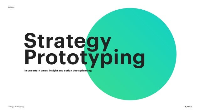 Strategy Prototyping Strategy PrototypingIn uncertain times, insight and action beats planning. EQX Live