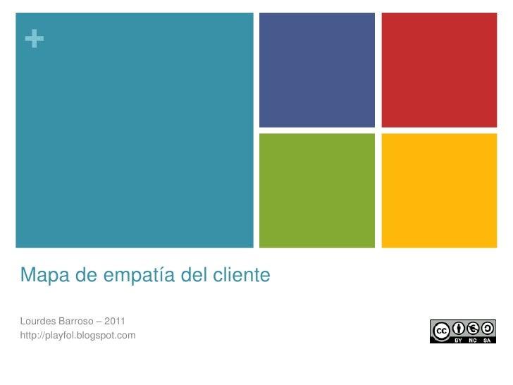 Mapa de empatía del cliente<br />Lourdes Barroso – 2011<br />http://playfol.blogspot.com<br />