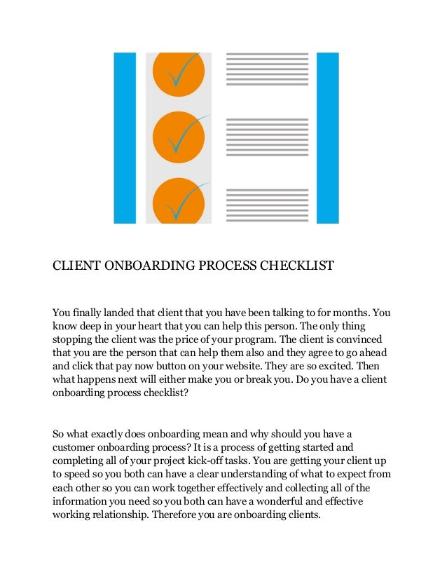 Client Onboarding Process Checklist