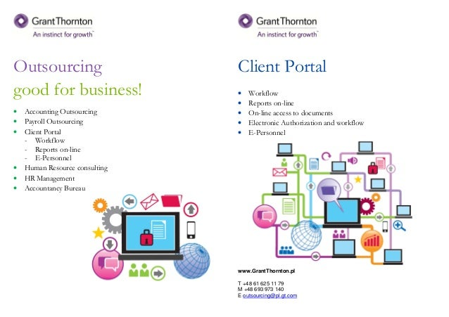 Outsourcing good for business! • Accounting Outsourcing • Payroll Outsourcing • Client Portal - Workflow - Reports on-line...