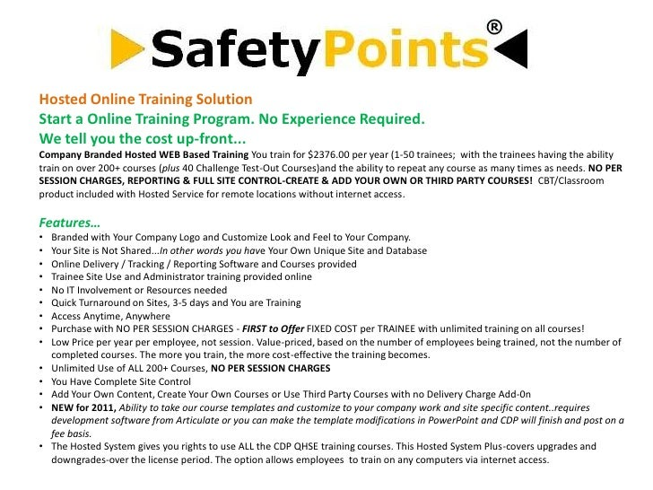 Hosted Online Training SolutionStart a Online Training Program. No Experience Required.We tell you the cost up-front...Com...