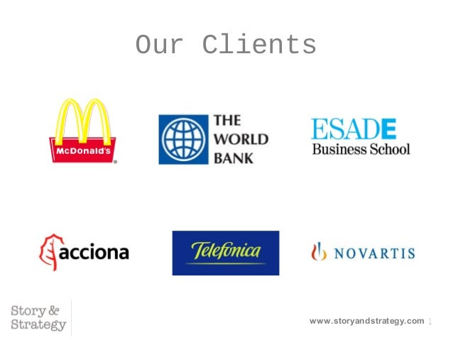 1 Our Clients www.storyandstrategy.com