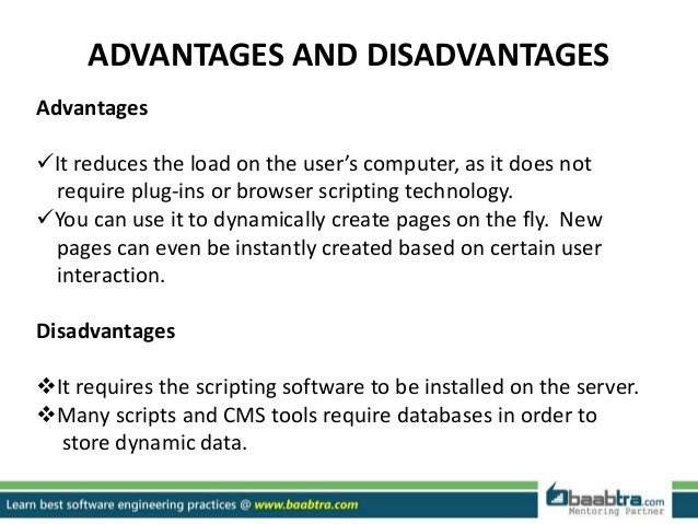 Advantages and disadvantages of web databases information technology essay
