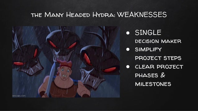 many headed hydra summary Hydra is a world-wide subversive organization dedicated to global domination   their organization takes its name from the many-headed serpent-like monster.
