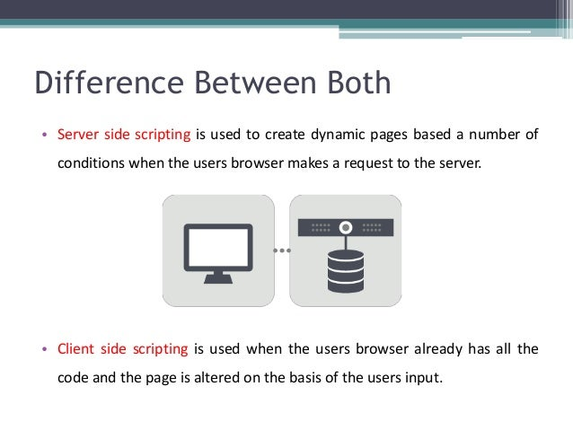 Difference Between Both • Server side scripting is used to create dynamic pages based a number of conditions when the user...