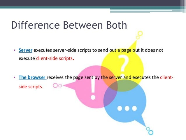 • Server executes server-side scripts to send out a page but it does not execute client-side scripts. • The browser receiv...