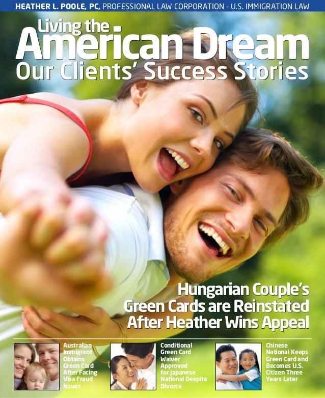AmericanDreamLivingtheOur Clients' Success StoriesAustralianImmigrantObtainsGreen CardAfter FacingVisa FraudIssuesConditio...