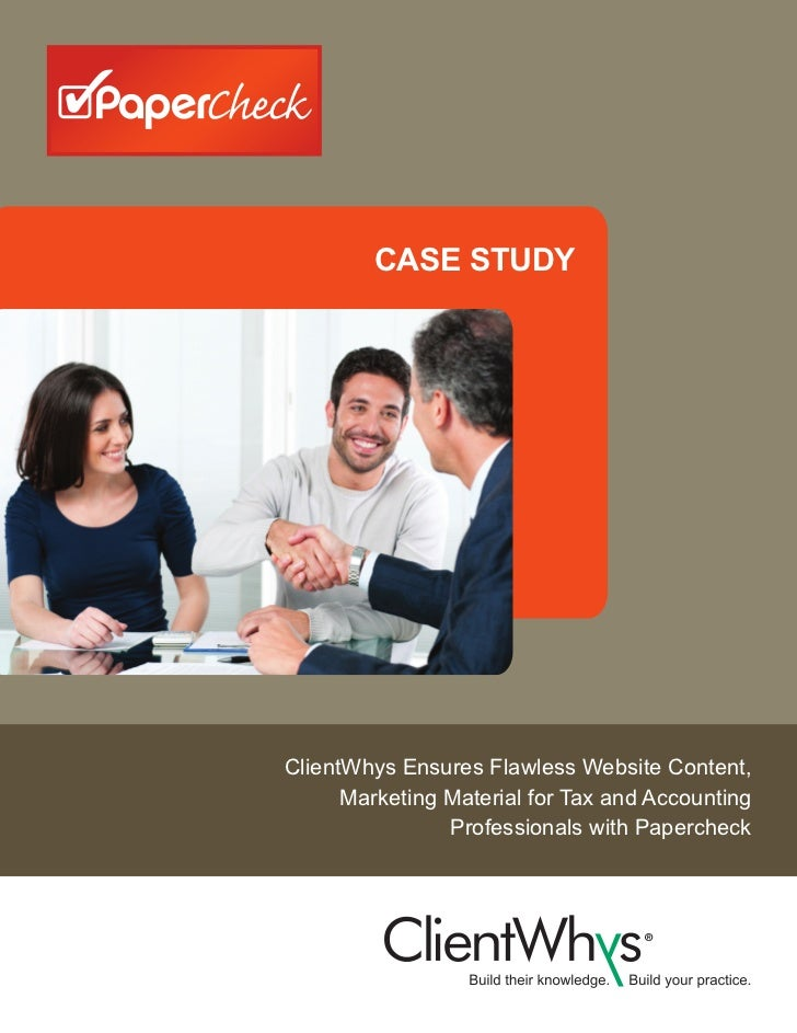 CASE STUDYClientWhys Ensures Flawless Website Content,      Marketing Material for Tax and Accounting                Profe...