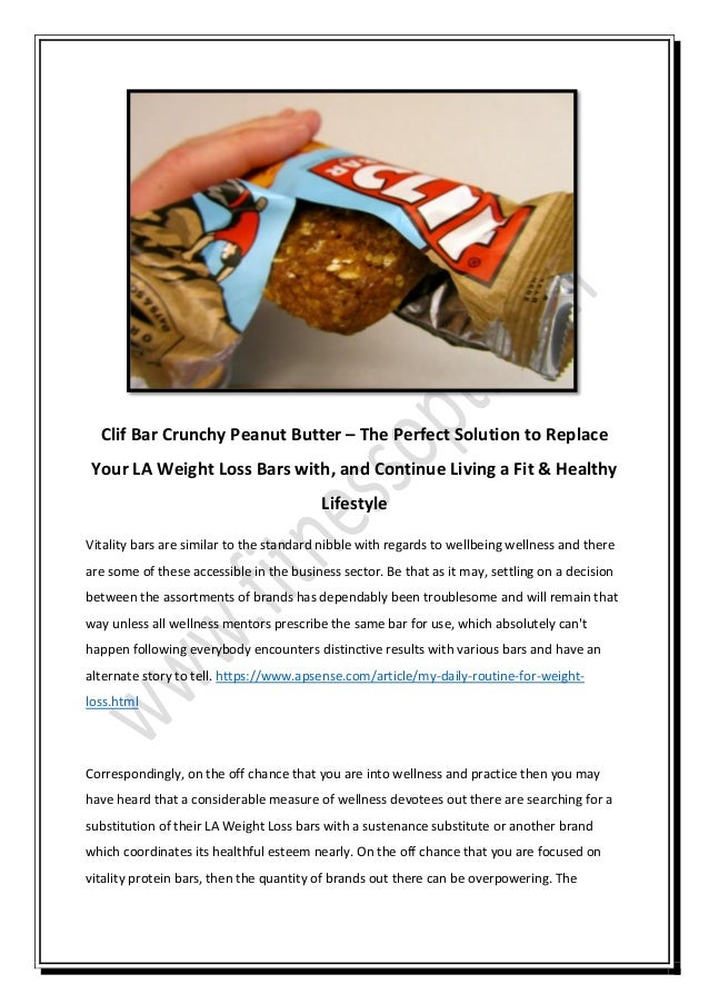 clif energy bar weight loss