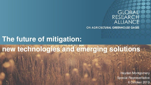 The future of mitigation: new technologies and emerging solutions Hayden Montgomery Special Representative 6 October 2019