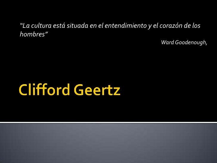 """""""La cultura está situada en el entendimiento y el corazón de los hombres""""                                                 ..."""