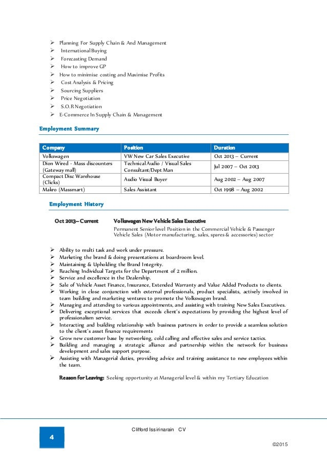 clifford issirinarain u0026 39 s resume