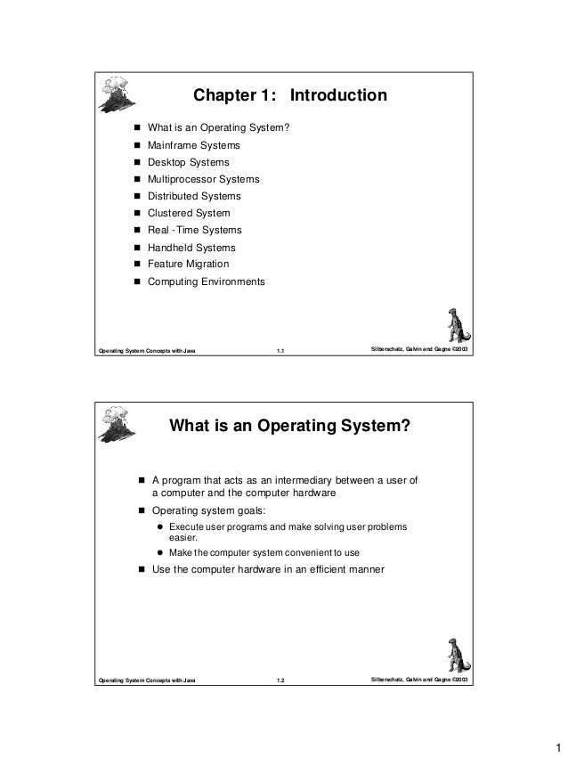 1 1.1 Silberschatz, Galvin and Gagne ©2003Operating System Concepts with Java Chapter 1: IntroductionChapter 1: Introducti...