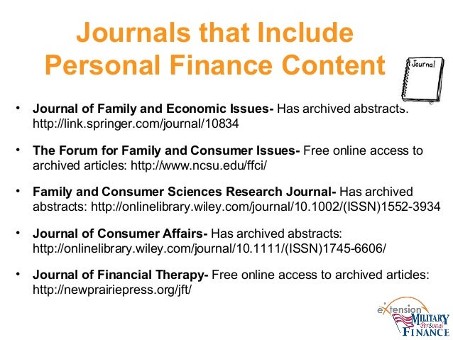 cliffs notes from the journal of financial planning counseling