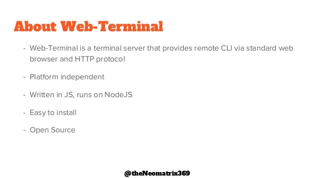 Cli in the browser