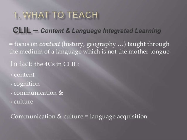 Clil and CEFR Slide 3