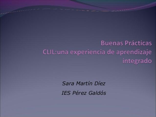 Sara Martín Díez IES Pérez Galdós