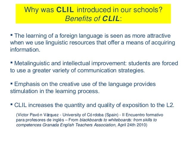 why clil I particularly like the three-sided focus on learning in a clil context - language,  content and learning skills – and how these all need to be.