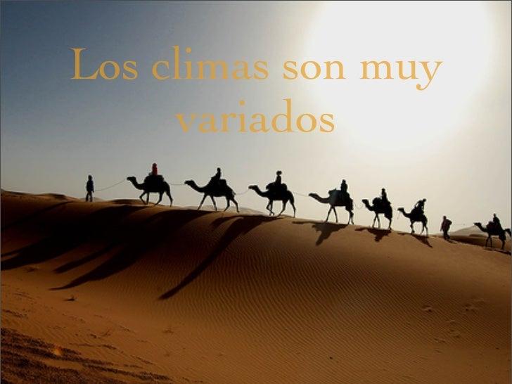 Tiempo y clima. Los paisajes (II) Slide 2