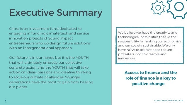 Empowering the innovation potential of young generations: We don't have much time! Climate Change is a threat that concern...