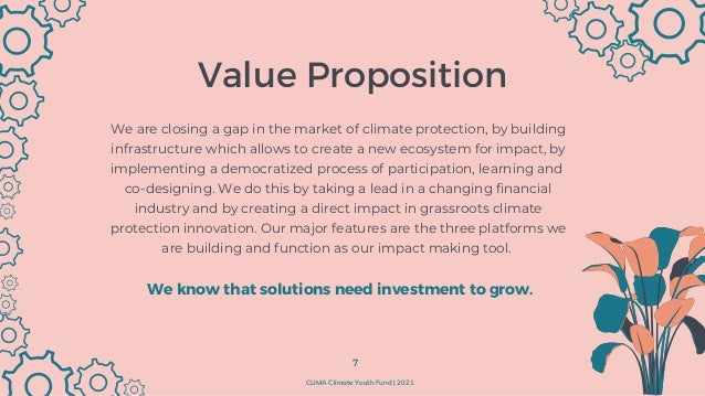 Product and Platforms In The Climate Youth Fund we offer 3 distinct sets of value. Project Platform Manages all projects w...
