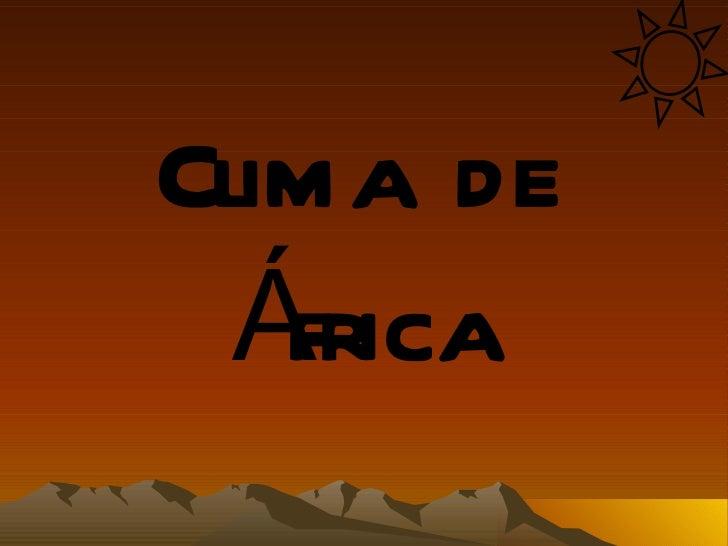 Clima de  África