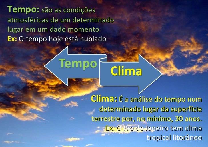 Resultado de imagem para CLIMA