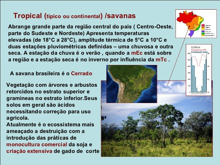 Tropical de Altitude / Mata atlânticaOcorre principalmente nas regiões serranas do Espírito Santo, Rio deJaneiro, São Paul...