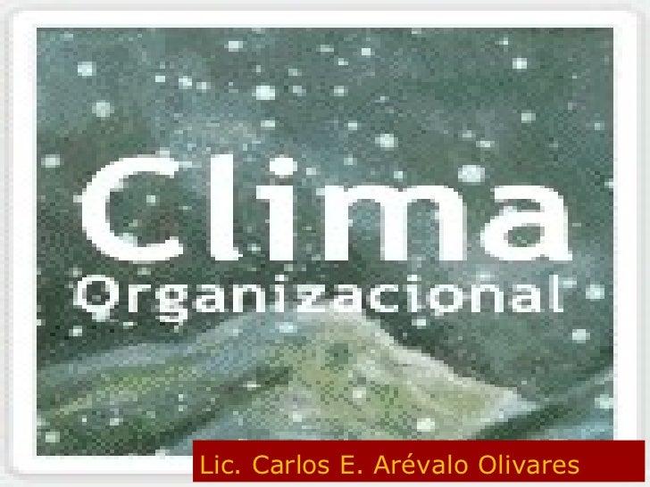 Lic. Carlos E. Arévalo Olivares
