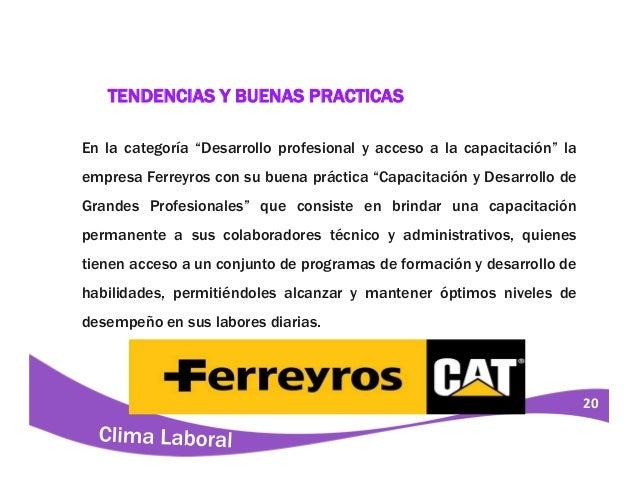 Clima Laboral Lindley S A Trujillo