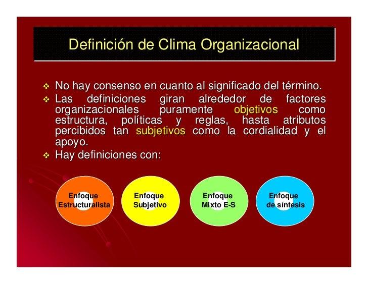 Clima organizacional for Origen y definicion de oficina