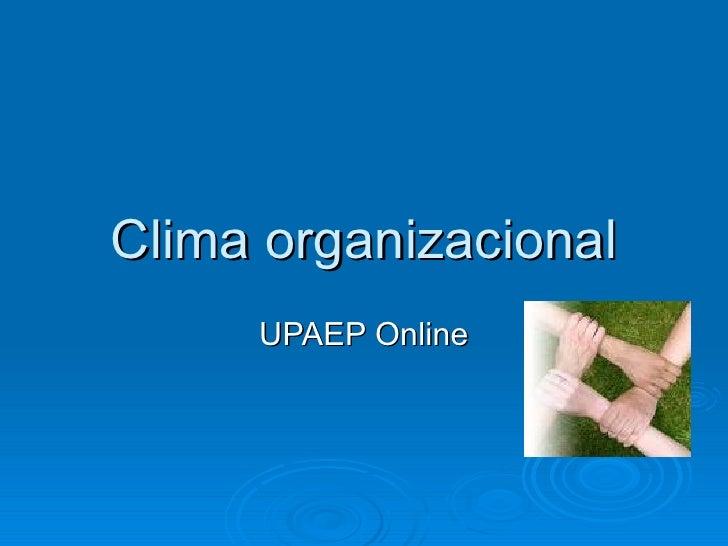 Clima organizacional UPAEP Online