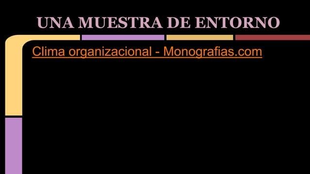Clima organizacional - Monografias.com UNA MUESTRA DE ENTORNO