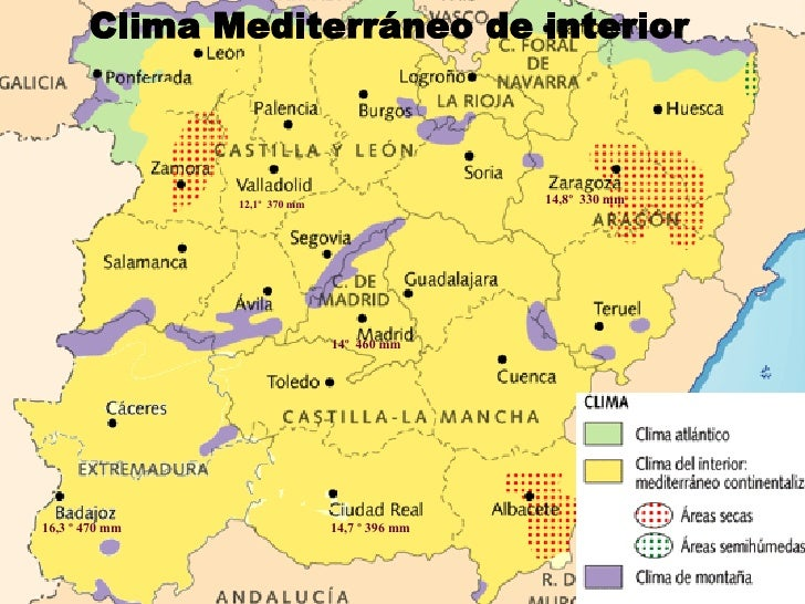 Climas y vegetaci n de espa a ii clima mediterr neo for Clima mediterraneo de interior