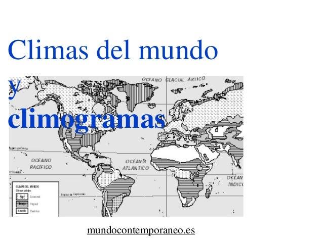 Climas del mundo y climogramas mundocontemporaneo.es
