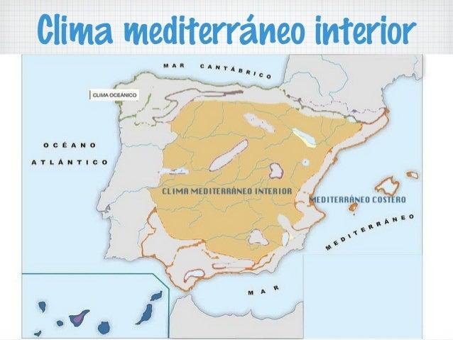 Climas y climogramas de espa a for Clima mediterraneo de interior