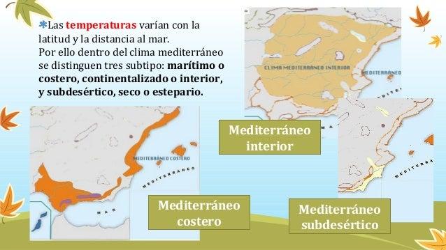 Tipos de clima en espa a for Clima mediterraneo de interior