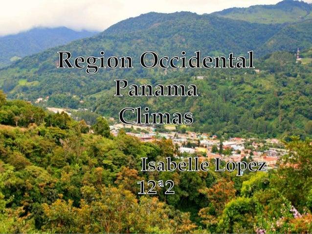 Principales climas de la region  Clima tropical muy húmedo (Afi):Conocido con el nombre de clima ecuatorial. Es cálido y ...