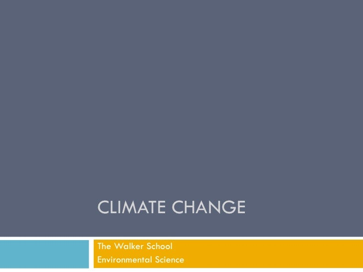 Climate Chanage