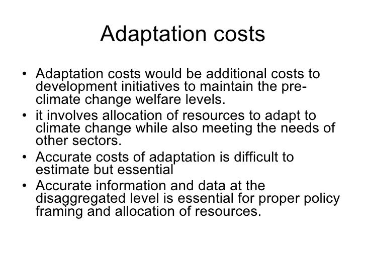 Climate Change and Adaptation-IDRC 2010 ppt