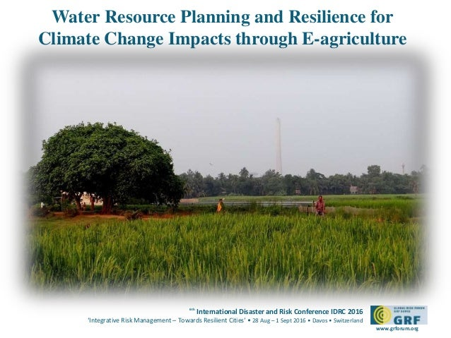 global water resource plan Water resource management is the activity of planning, developing, distributing and managing the optimum use of water resources it is a sub-set of water cycle management.