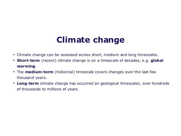 short paragraph on climate change