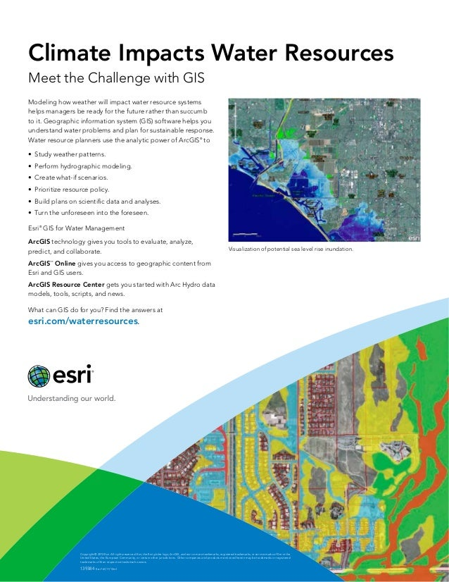 Climate Impacts Water Resources Meet the Challenge with GIS Modeling how weather will impact water resource systems helps ...