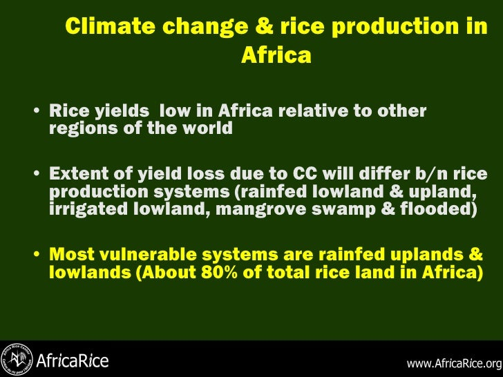 The catastrophic effects of climate change in africa