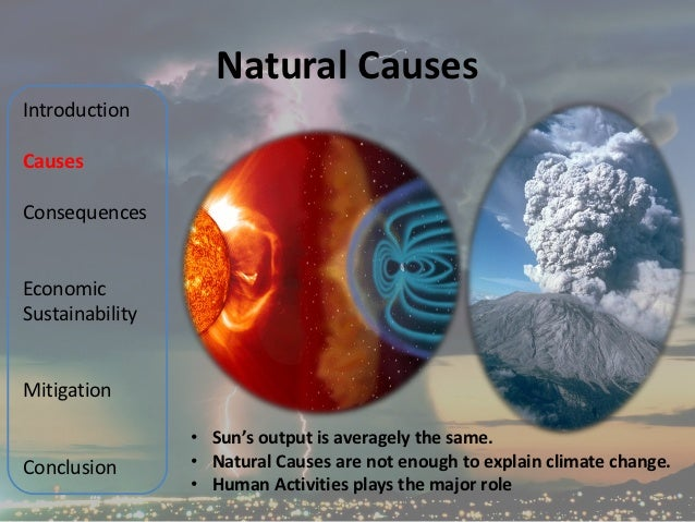 natural causes of climate change Volcanoes can have both a cooling and warming effect on the planet's climate skip to main content switch to the us edition  the ultimate climate change faq.