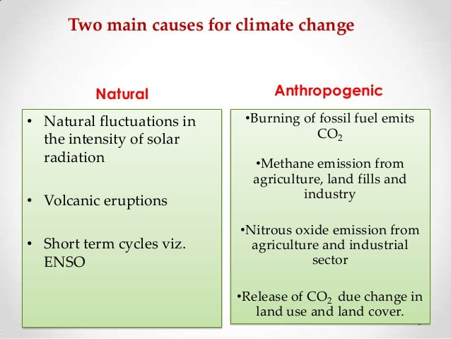 the main causes of changes in Climate: climate change is a long-term shift in the climate of a specific location, region or planet the shift is measured by changes in features associated with.
